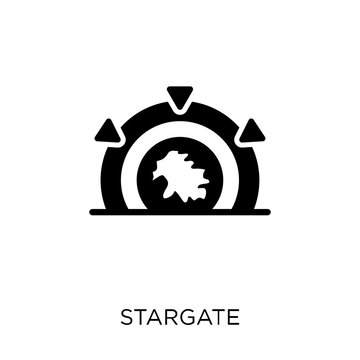 Stargate icon. Stargate symbol design from Astronomy collection. Simple element vector illustration. Can be used in web and mobile.