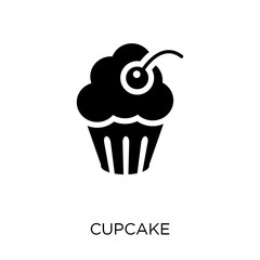 Cupcake icon. Cupcake symbol design from Birthday and Party collection.