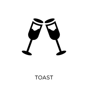 Toast icon. Toast symbol design from Wedding and love collection.
