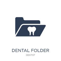 Dental Folder icon. Trendy flat vector Dental Folder icon on white background from Dentist collection
