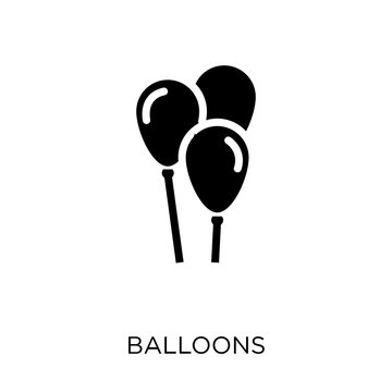 Balloons icon. Balloons symbol design from Christmas collection.