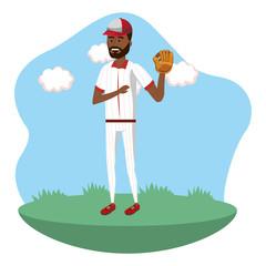 baseball player cartoon