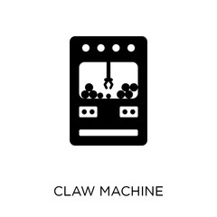Claw machine icon. Claw machine symbol design from Circus collection.