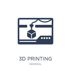 3d printing icon. Trendy flat vector 3d printing icon on white background from general collection