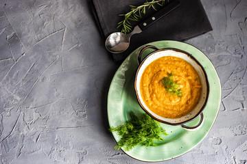 Tasty pumpkin soup