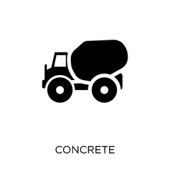 Concrete icon. Concrete symbol design from Construction collection.