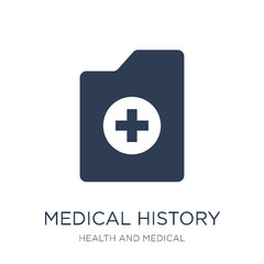 Medical history icon. Trendy flat vector Medical history icon on white background from Health and Medical collection
