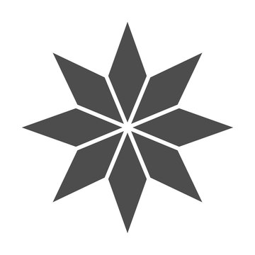 Eight-pointed star solid icon. Christmas tree star vector illustration isolated on white. Xmas decoration glyph style design, designed for web and app. Eps 10.