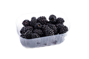 BlackBerry isolated on white in a plastic plate