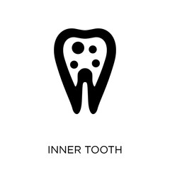 Inner Tooth icon. Inner Tooth symbol design from Dentist collection.