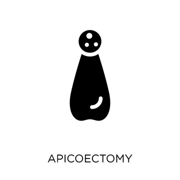 Apicoectomy icon. Apicoectomy symbol design from Dentist collection.