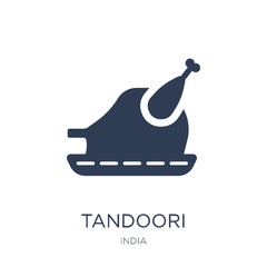 Tandoori icon. Trendy flat vector Tandoori icon on white background from india collection