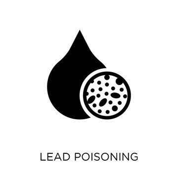 Lead poisoning icon. Lead poisoning symbol design from Diseases collection.