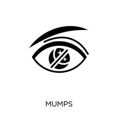Mumps icon. Mumps symbol design from Diseases collection.