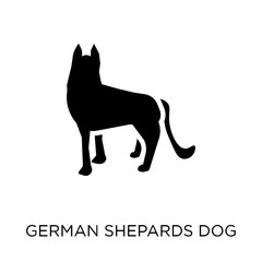 German Shepards dog icon. German Shepards dog symbol design from Dogs collection.