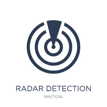 Radar detection icon. Trendy flat vector Radar detection icon on white background from Nautical collection