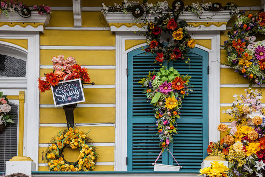 Happy Spring decoration Mardi Gras in New Orleans