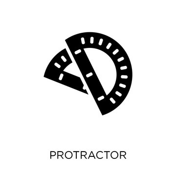 Protractor icon. Protractor symbol design from Education collection. Simple element vector illustration. Can be used in web and mobile.