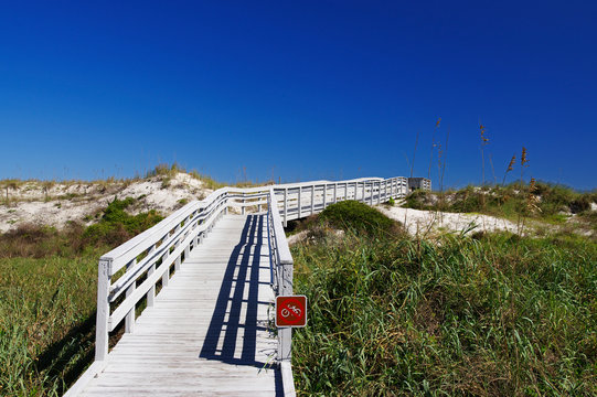 Anastasia State Park in St. Augustine is good destination for winter sun holidays, Florida, USA