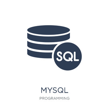 Mysql icon. Trendy flat vector Mysql icon on white background from Programming collection
