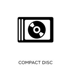 Compact disc icon. Compact disc symbol design from Electronic devices collection. Simple element vector illustration. Can be used in web and mobile.