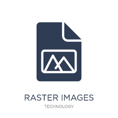 Raster Images icon. Trendy flat vector Raster Images icon on white background from Technology collection
