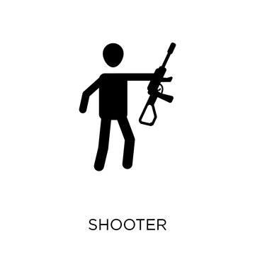 Shooter icon. Shooter symbol design from Arcade collection. Simple element vector illustration. Can be used in web and mobile.