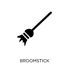 Broomstick icon. Broomstick symbol design from Fairy tale collection.