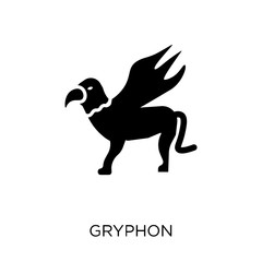 Gryphon icon. Gryphon symbol design from Fairy tale collection.