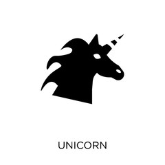 Unicorn icon. Unicorn symbol design from Fairy tale collection.
