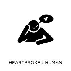 heartbroken human icon. heartbroken human symbol design from Feelings collection.