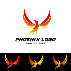 Phoenix Bird Logo Design Vector Illustration