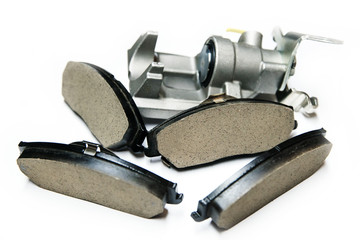 brake pads with shallow depth of field