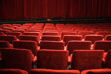 Photo sur Plexiglas Opera, Theatre red theater seats
