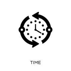 Time icon. Time symbol design from Time managemnet collection. Simple element vector illustration. Can be used in web and mobile.