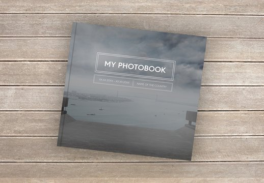 Square Black and White Book Layout