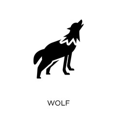 Wolf icon. Wolf symbol design from Animals collection.