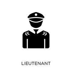 lieutenant icon. lieutenant symbol design from Army collection. Simple element vector illustration. Can be used in web and mobile.