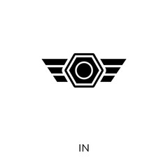 Insignia icon. Insignia symbol design from Army collection. Simple element vector illustration. Can be used in web and mobile.