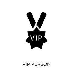 Vip person icon. Vip person symbol design from Cinema collection.