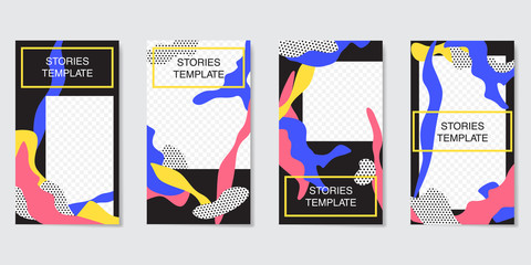 Editable Instagram Stories template. Streaming.Creative people collection.
