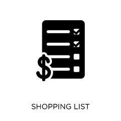 shopping list icon shopping list symbol design from ecommerce collection