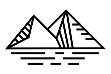mountain logo line