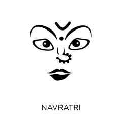 navratri icon. navratri symbol design from India collection.
