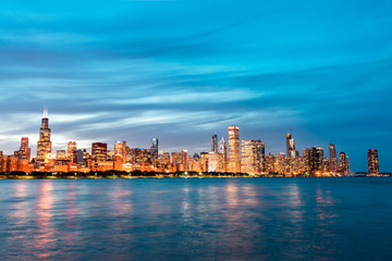 Early Evening Chicago Skyline