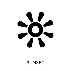 Sunset icon. Sunset symbol design from Nature collection.