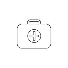 medicine bag, surgical bag, first-aid kit icon. Simple outline vector of medicine set for UI and UX, website or mobile application