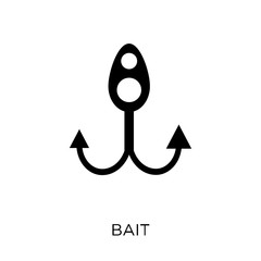 Bait icon. Bait symbol design from Nautical collection.