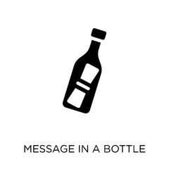 Message In a Bottle icon. Message In a Bottle symbol design from Nautical collection.