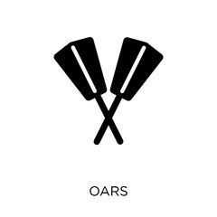 Oars icon. Oars symbol design from Nautical collection.